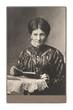 original vintage photo of senior woman