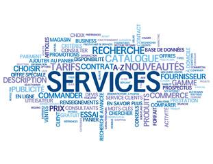 """Nuage de Tags """"SERVICES"""" (catalogue recherche produits tarifs)"""