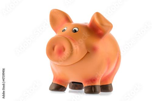 Sparschwein auf weißem Hintergrund