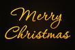 A golden Merry Christmas