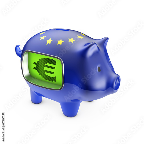 LCD euro piggybank