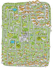 Paysage urbain Maze Game