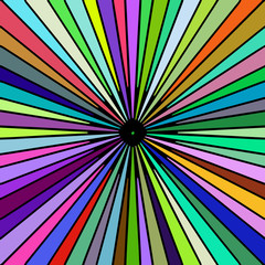 Rainbow colored rays vector image