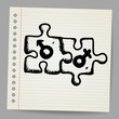 Doodle puzzles with gender symbols, vector illustration