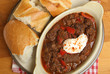 Hungarian Goulash Beef Stew with Crusty Bread