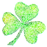 Green clover on white, vector illustration for St. Patrick's day
