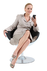 businesswoman on chair