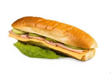 Closeup of sandwich
