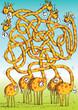Giraffes Maze Game