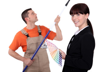 Interior decorator and painter