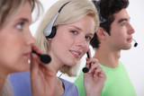 Three call-center workers