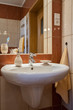 Washbasin in bathroom