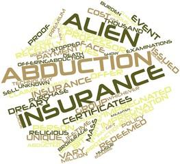 Word cloud for Alien abduction insurance