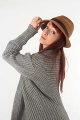 cappello e vestito di lana