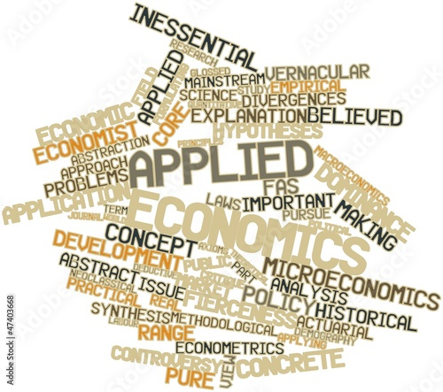 Word cloud for Applied economics