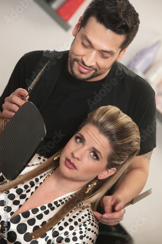 Hairdresser With Annoyed Customer