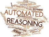 Word cloud for Automated reasoning poster