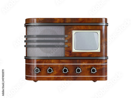Retro TV Set. 3D isolated