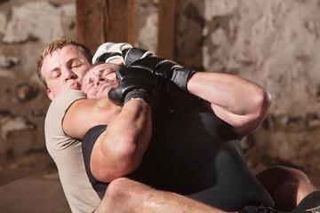 Man in Rear Choke Hold