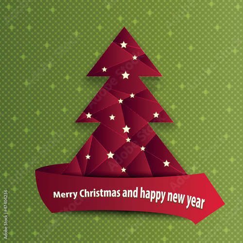 Vector abstract background with Christmas tree