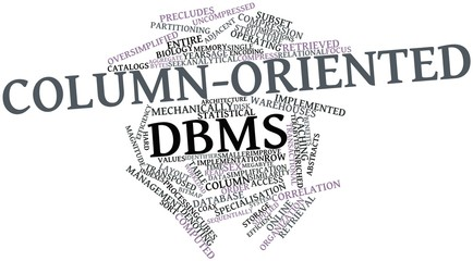Word cloud for Column-oriented DBMS