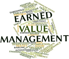 Word cloud for Earned value management
