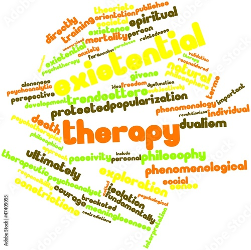 Word cloud for Existential therapy