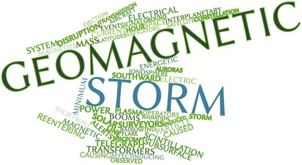 Word cloud for Geomagnetic storm