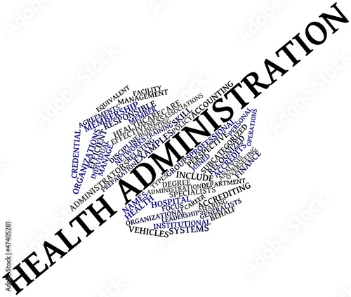 Word cloud for Health administration