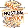Word cloud for Image hosting service