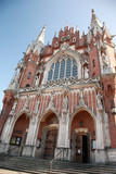 Ornate entrance of St Joseph's Church, Krakow