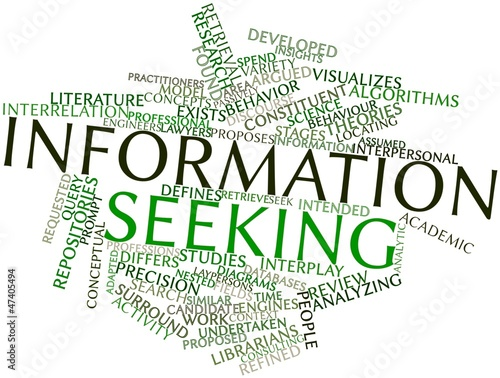 Word cloud for Information seeking