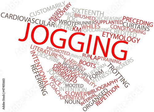 Word cloud for Jogging