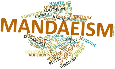 Word cloud for Mandaeism