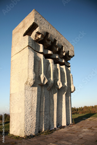 Monument at the former Plaszow concentration camp