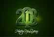 Happy New year 2013 header, banner. Vector illustration