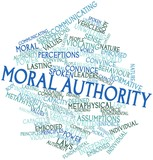 Word cloud for Moral authority poster