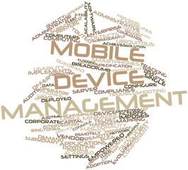 Word cloud for Mobile device management