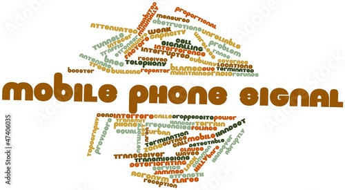 Word cloud for Mobile phone signal