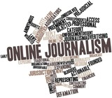 Word cloud for Online journalism