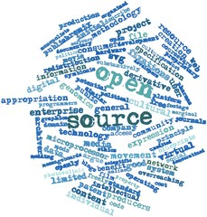 Word cloud for Open source