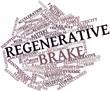 Word cloud for Regenerative brake