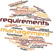 Word cloud for Requirements management