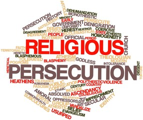 Word cloud for Religious persecution