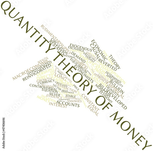 Word cloud for Quantity theory of money