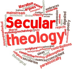 Word cloud for Secular theology