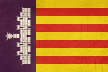 Grunge Majorca Island flag