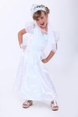 Girl dressed as princess