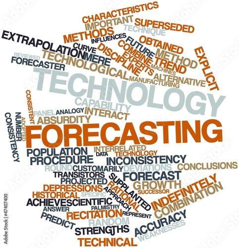 Word cloud for Technology forecasting