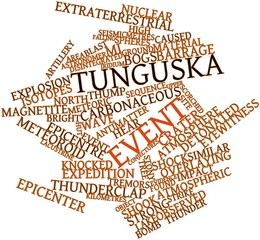 Word cloud for Tunguska event